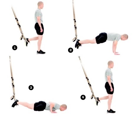 Best TRX exercise - Single Leg Burpees