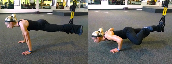 Best TRX Exercise - Spider-Man Pushup