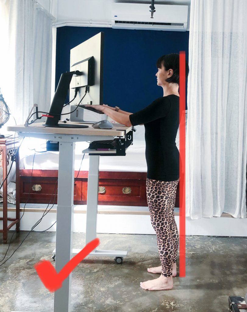 poor posture correction with a standing desk